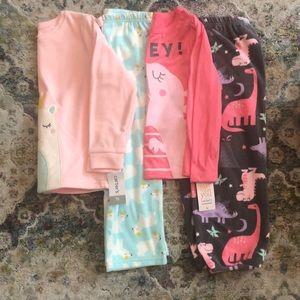 NWT - Carter's - Toddler Girls - Fleece Pajamas 5T